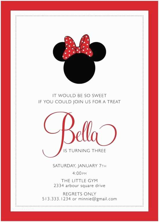 Minnie Mouse Birthday Invitations Personalized 1000 Ideas About Minnie Mouse Birthday Invitations