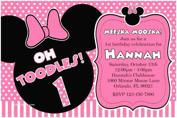 Minnie Mouse Birthday Invitations Personalized 8 Minnie Mouse Birthday Invitations Free Editable