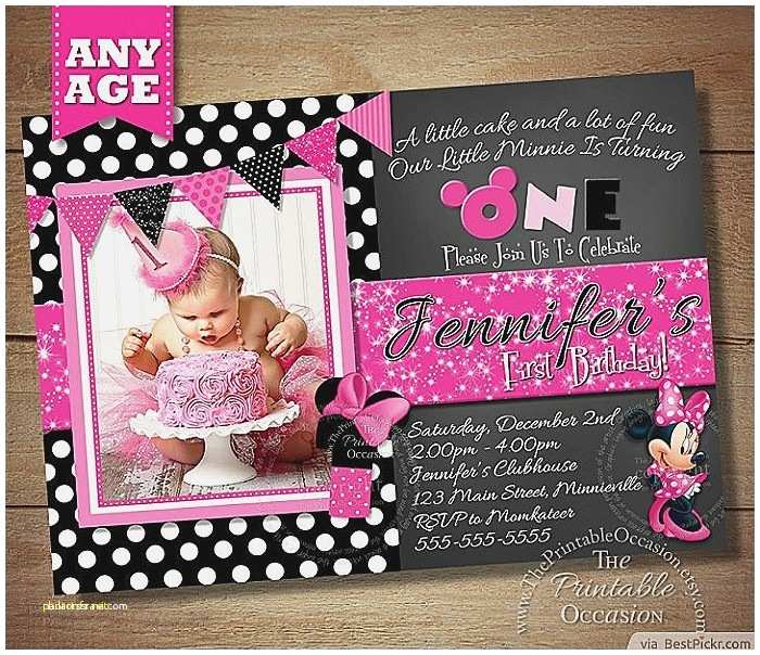 Minnie Mouse Birthday Invitations Personalized Baby Shower Invitation Fresh Customized Minnie Mouse Baby