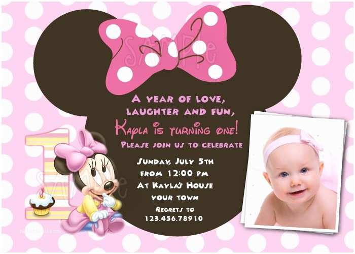 Minnie Mouse Birthday  Personalized Free Download Minnie Mouse 1st Birthday