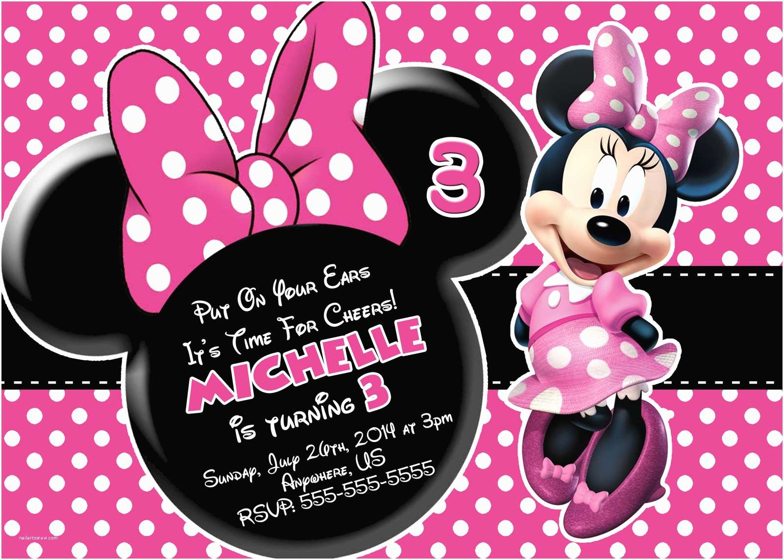 Minnie Mouse Birthday Invitations Personalized Free Minnie Mouse Printable Birthday Invitations