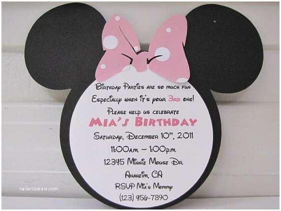 Minnie  Birthday Invitations Personalized Handmade Items Similar To 20 Personalized Minnie