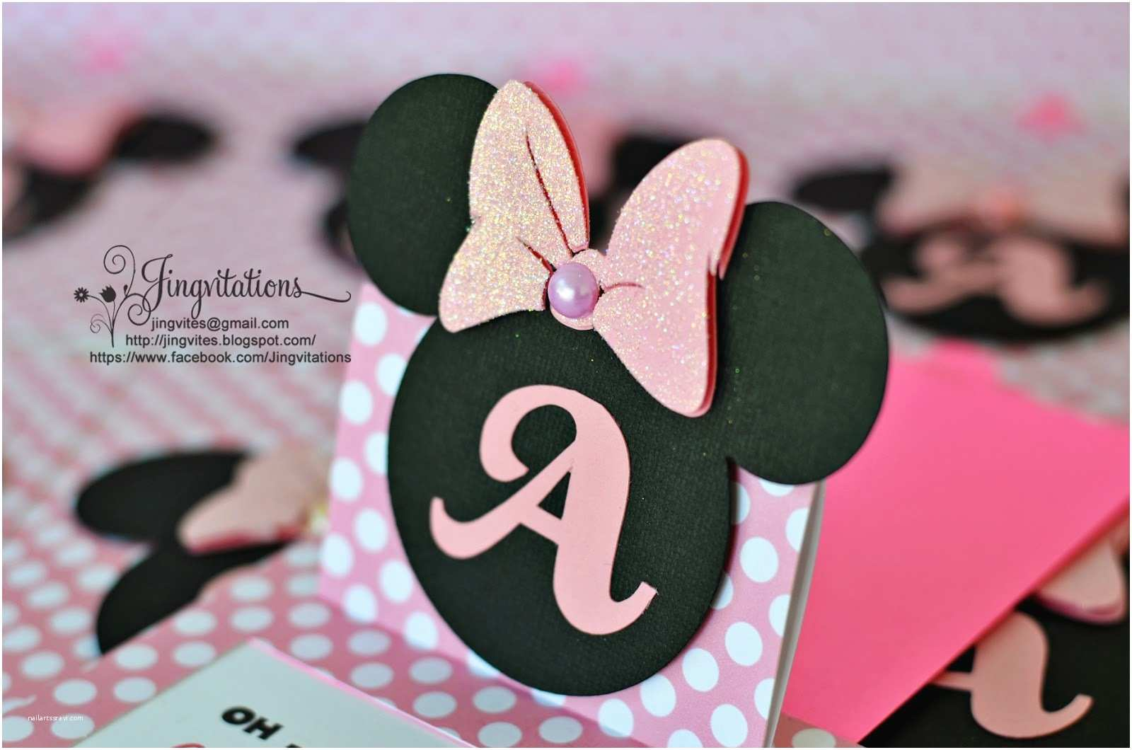 Minnie Mouse Birthday Invitations Personalized Jingvitations Cricut Handmade Minnie Mouse Pop Up Invitations