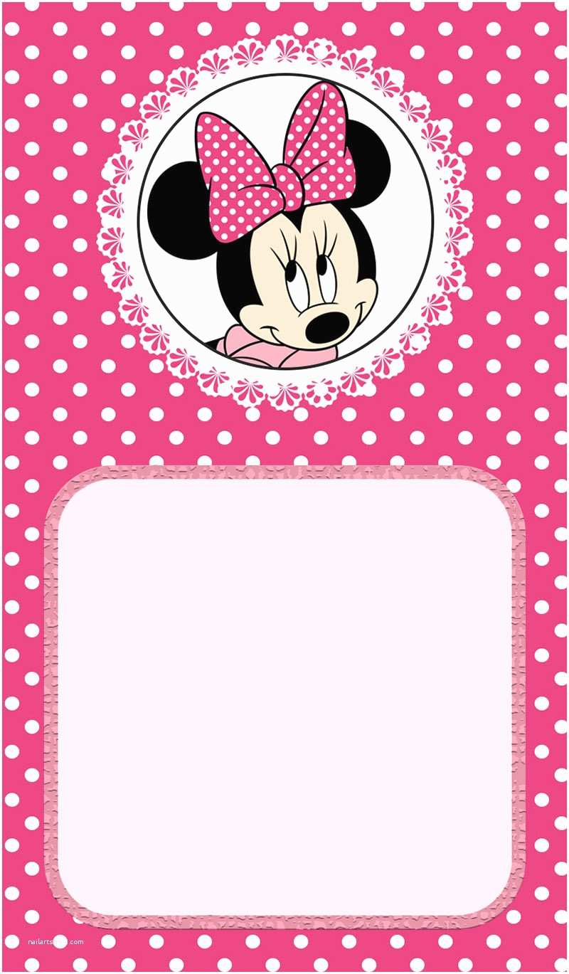 Minnie Mouse Birthday Invitations Personalized Minnie Mouse Birthday Invitation Free
