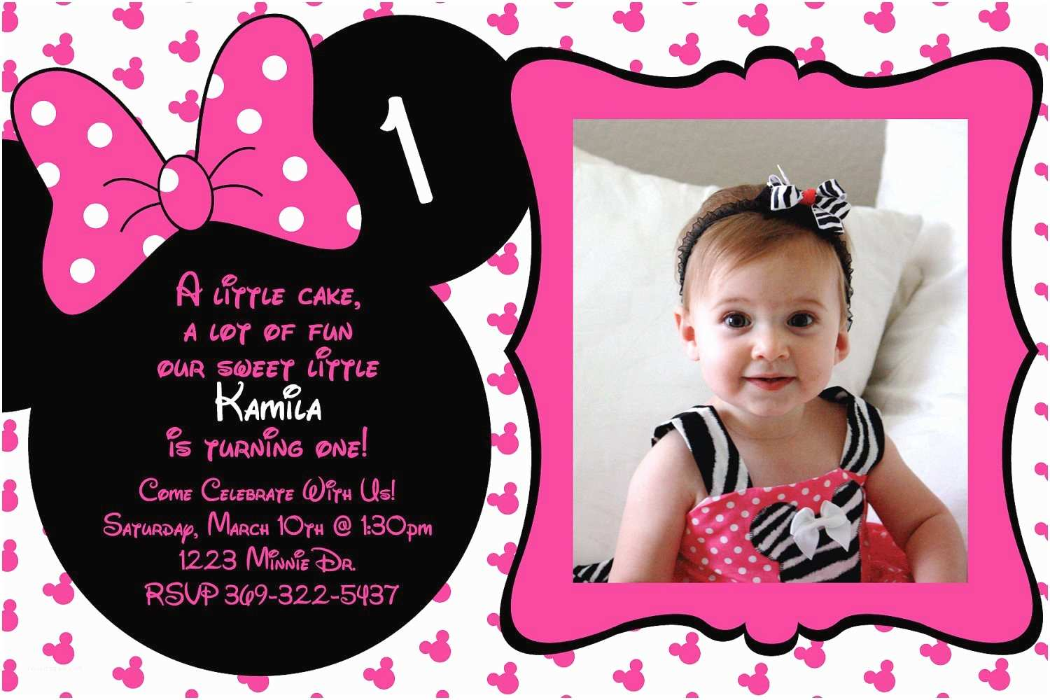Minnie Mouse Birthday Invitations Personalized Minnie Mouse Birthday Invitations Minnie Mouse Birthday