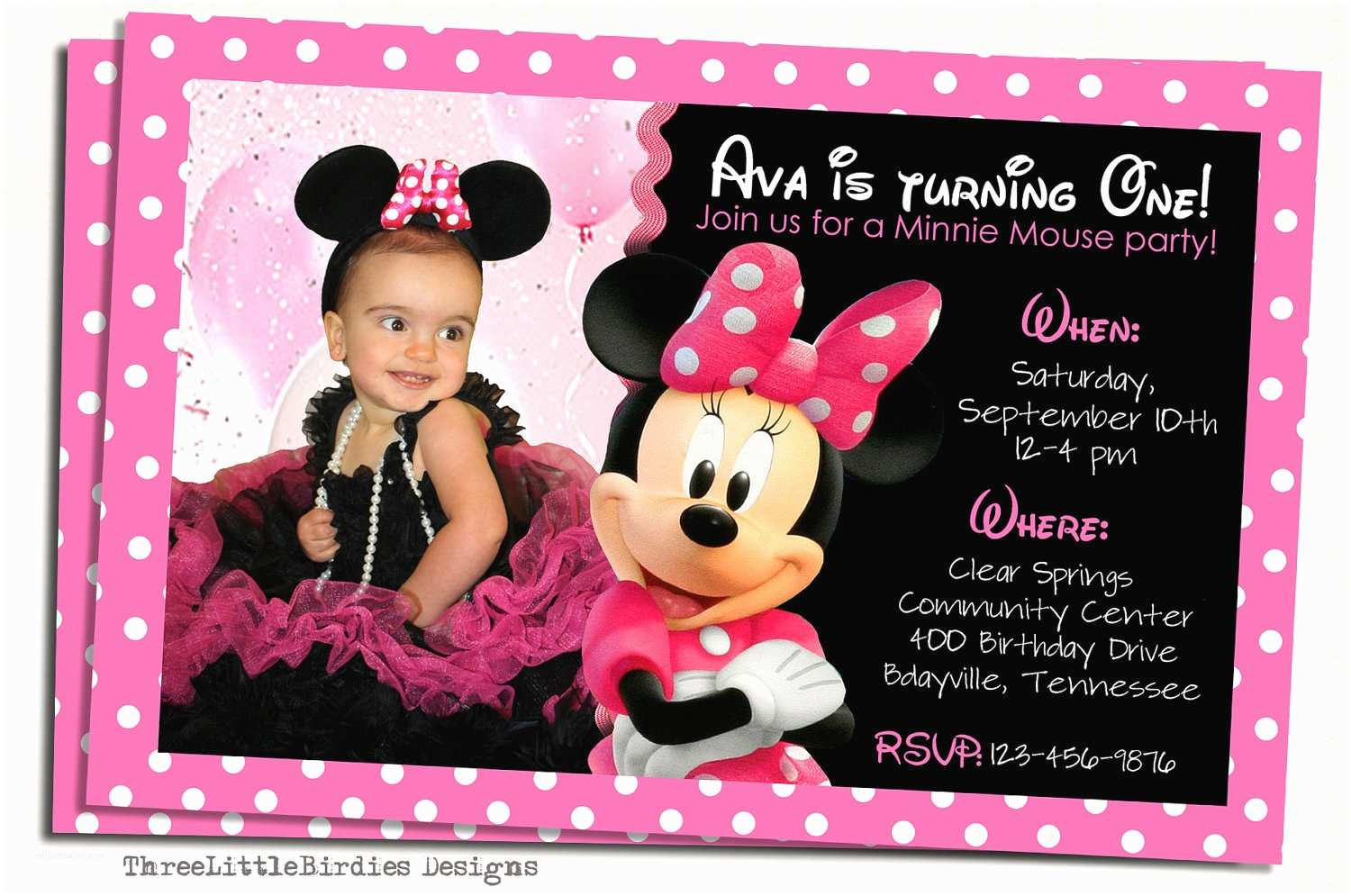 Minnie Mouse Birthday Invitations Personalized Minnie Mouse Birthday Invitations Personalized
