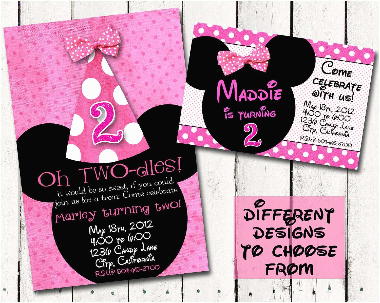 Minnie Mouse Birthday Invitations Personalized Minnie Mouse Birthday Quotes