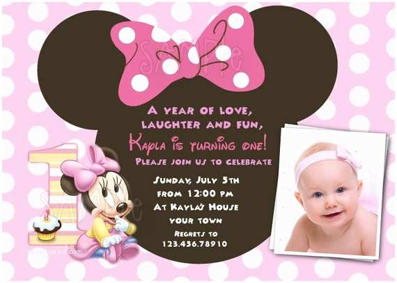 Minnie Mouse Birthday  Personalized Minnie Mouse First Birthday