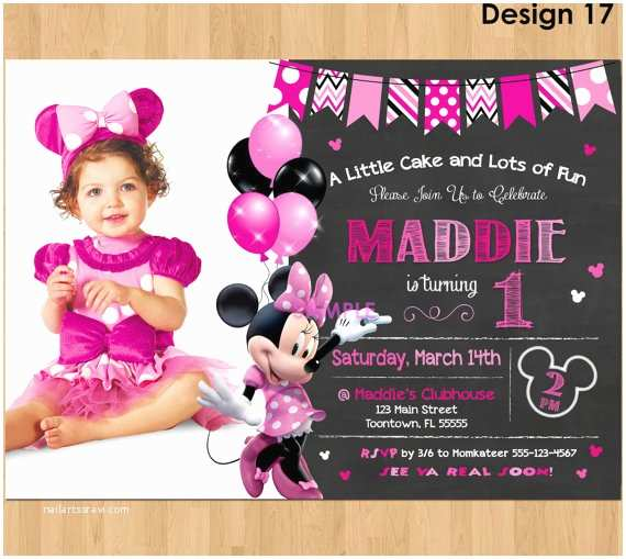 Minnie Mouse Birthday Invitations Personalized Minnie Mouse Invitation Minnie Mouse 1st Birthday First