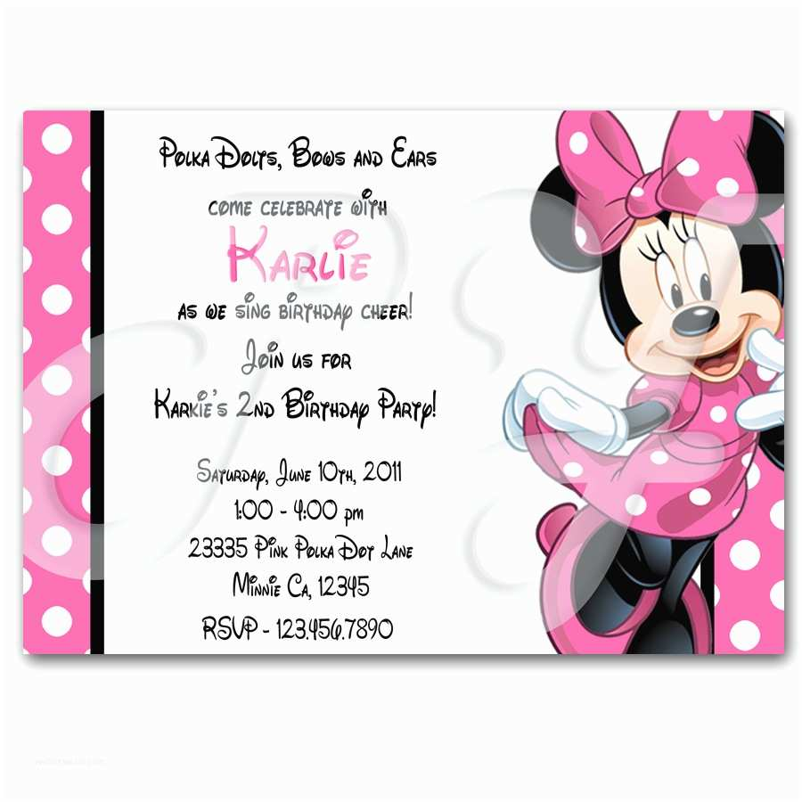 Minnie Mouse Birthday  Personalized Minnie Mouse Personalized