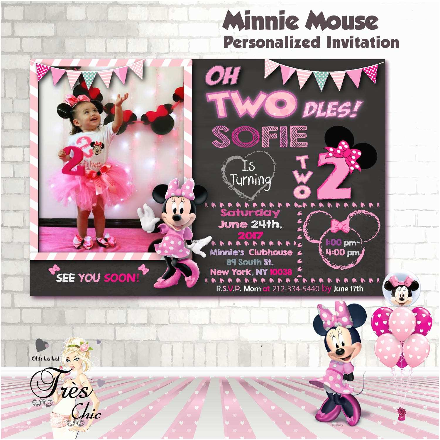 47 Minnie Mouse Birthday Invitations Personalized
