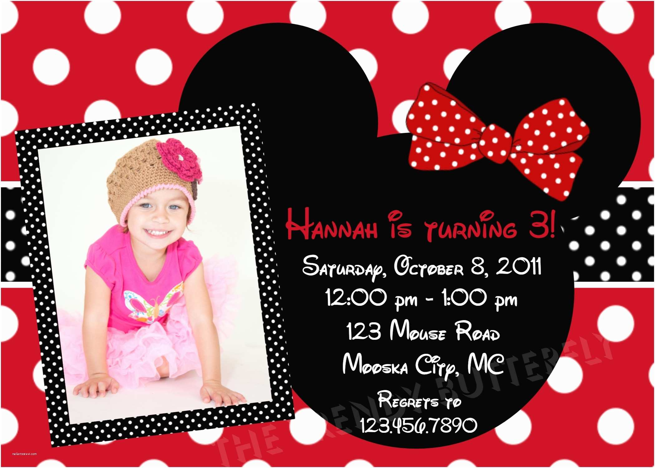 Minnie Mouse Birthday  Personalized Plain Top 10 Minnie Mouse Birthday