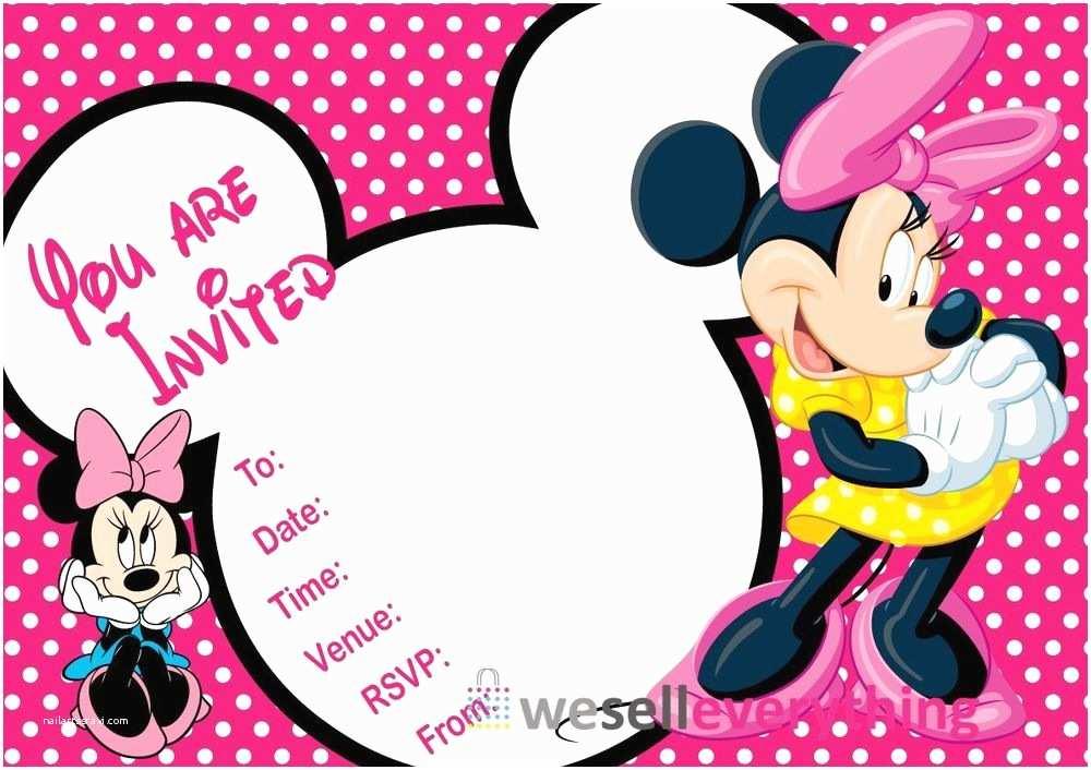"Minnie Mouse Birthday Party Invitations 20 Minnie Mouse Party Invitations Kids Children""s Invites"