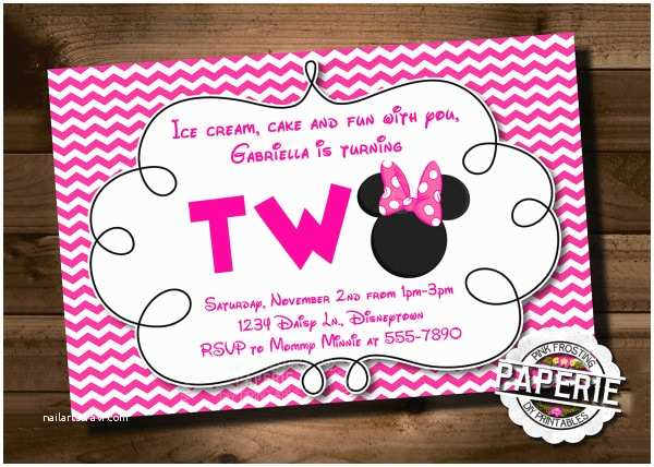 Minnie Mouse Birthday Party Invitations 23 Awesome