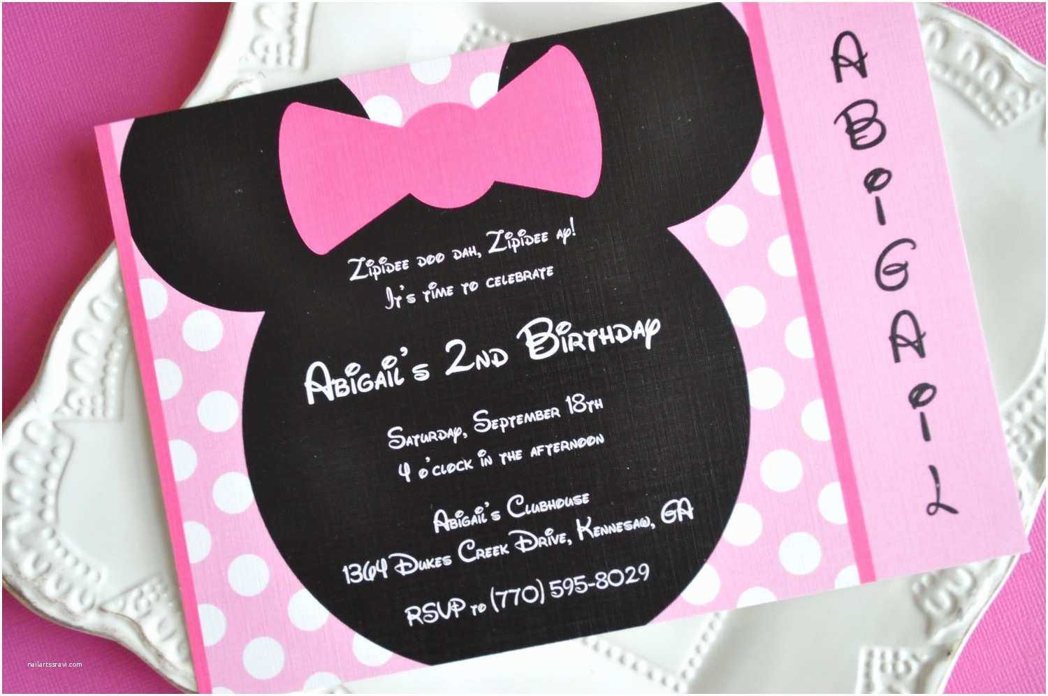Minnie Mouse Birthday Party Invitations Homemade Minnie Mouse Invitations Template Resume Builder