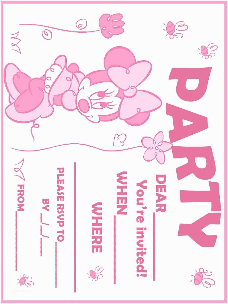 Minnie Mouse First Birthday Invitations 32 Superb Minnie Mouse Birthday Invitations
