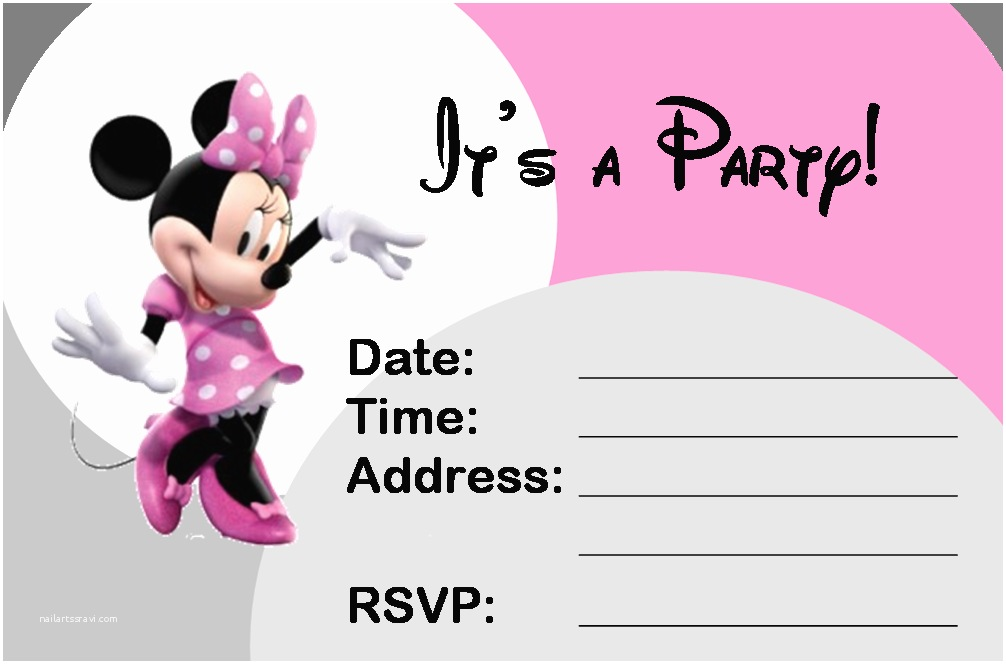 Minnie Mouse Party Invitations 35 Best Birthday Ideas