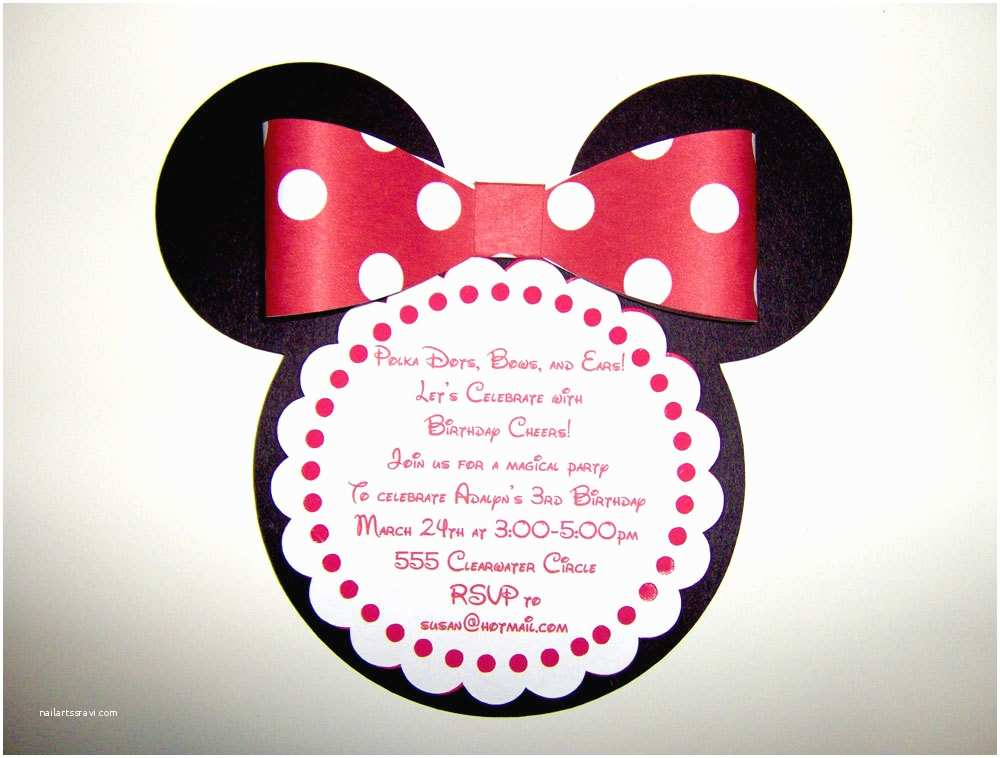 Minnie Mouse Party Invitations Free Birthday Invitations to Print