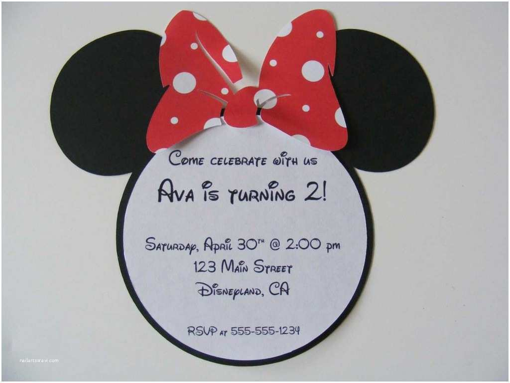 Minnie Mouse Party Invitations How to Make Minnie Mouse Invitations