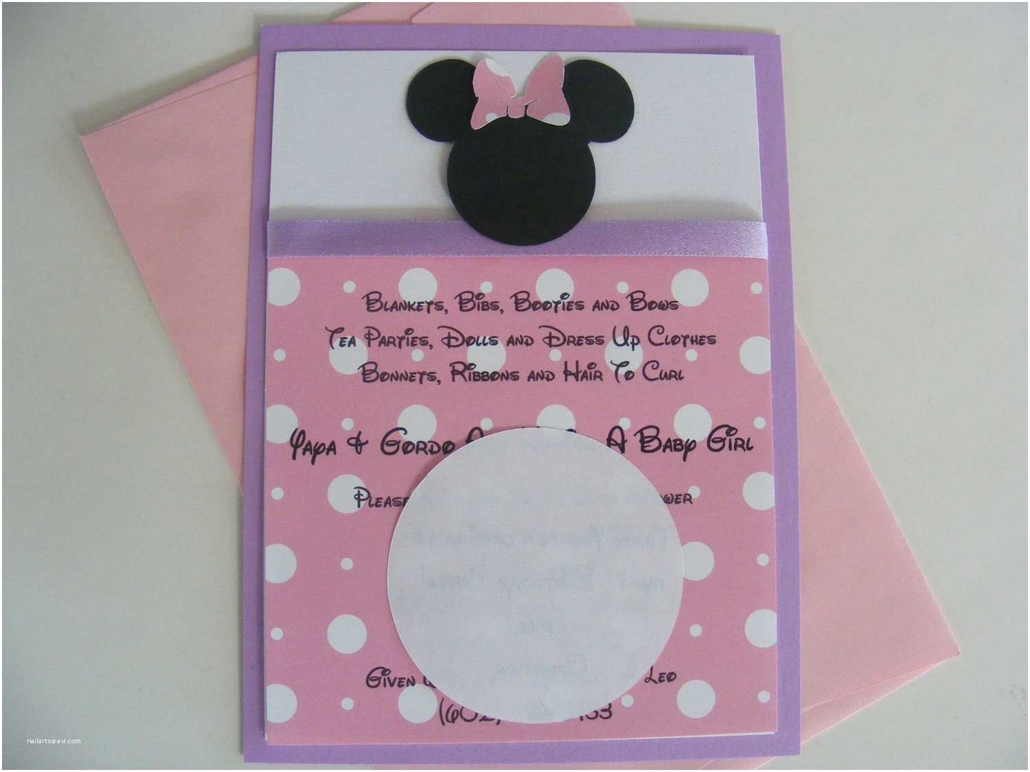 Minnie Mouse Party Invitations Minnie Mouse Inspired Invitations Pink Purple Minnie Birthday