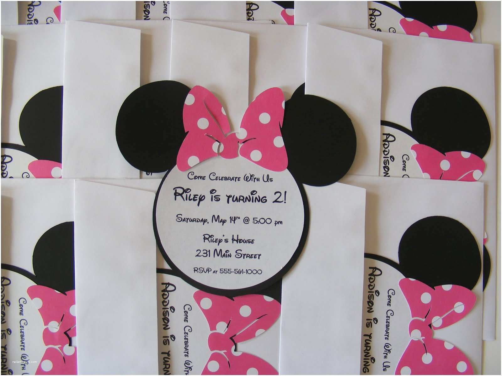 Minnie Mouse Party Invitations Whimsical Creations by Ann Minnie Mouse Birthday Party Ideas