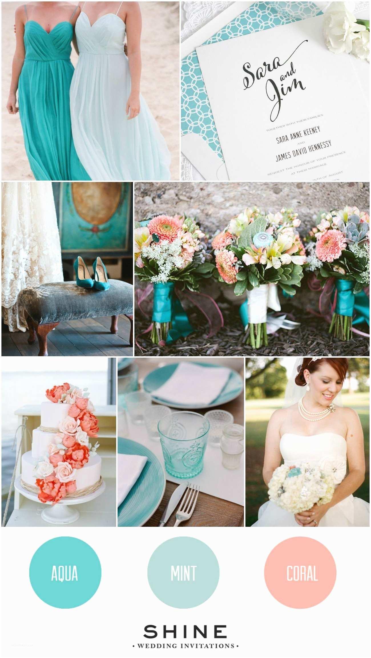 Mint Color Wedding Invitations Aqua Coral Mint Wedding Inspiration – Wedding Invitations