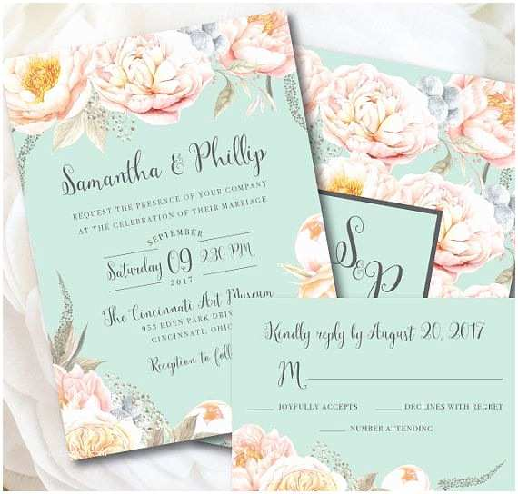 Mint Color Wedding Invitations Best 25 Peach Weddings Ideas On Pinterest