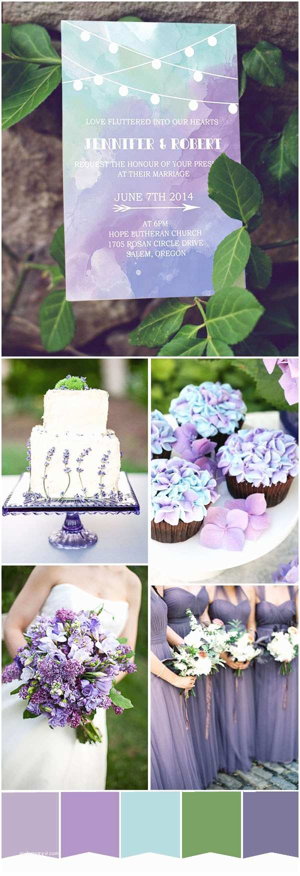 Mint Color Wedding Invitations Five Most Popular Purple Wedding Color Ideas and Wedding