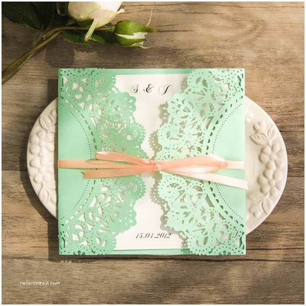 Mint Color Wedding Invitations Gorgeous Mint Invitation Inspired Wedding Color Bo Ideas