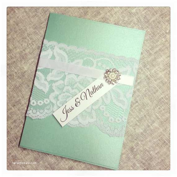 Mint Color Wedding Invitations Items Similar to Mint Green Vintage Lace Wedding