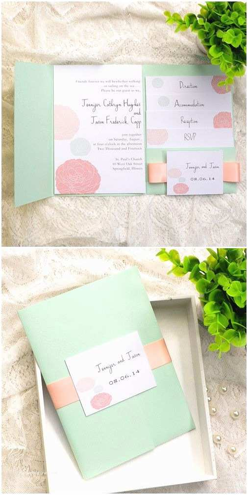 Mint Color Wedding Invitations Mint Green Invitations and Wedding On Pinterest