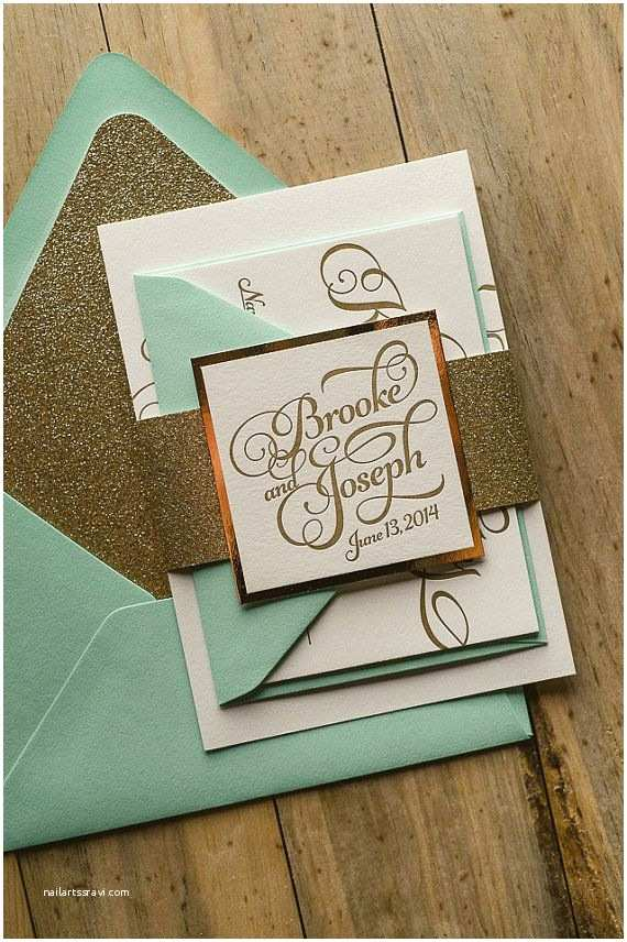 Mint Green Wedding Invitations 25 Best Ideas About Mint Gold Weddings On Pinterest