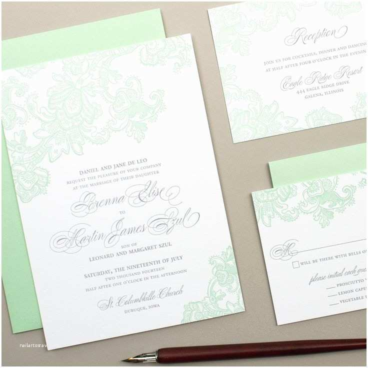 Mint Green Wedding Invitations Best 25 Wedding Motifs Ideas On Pinterest