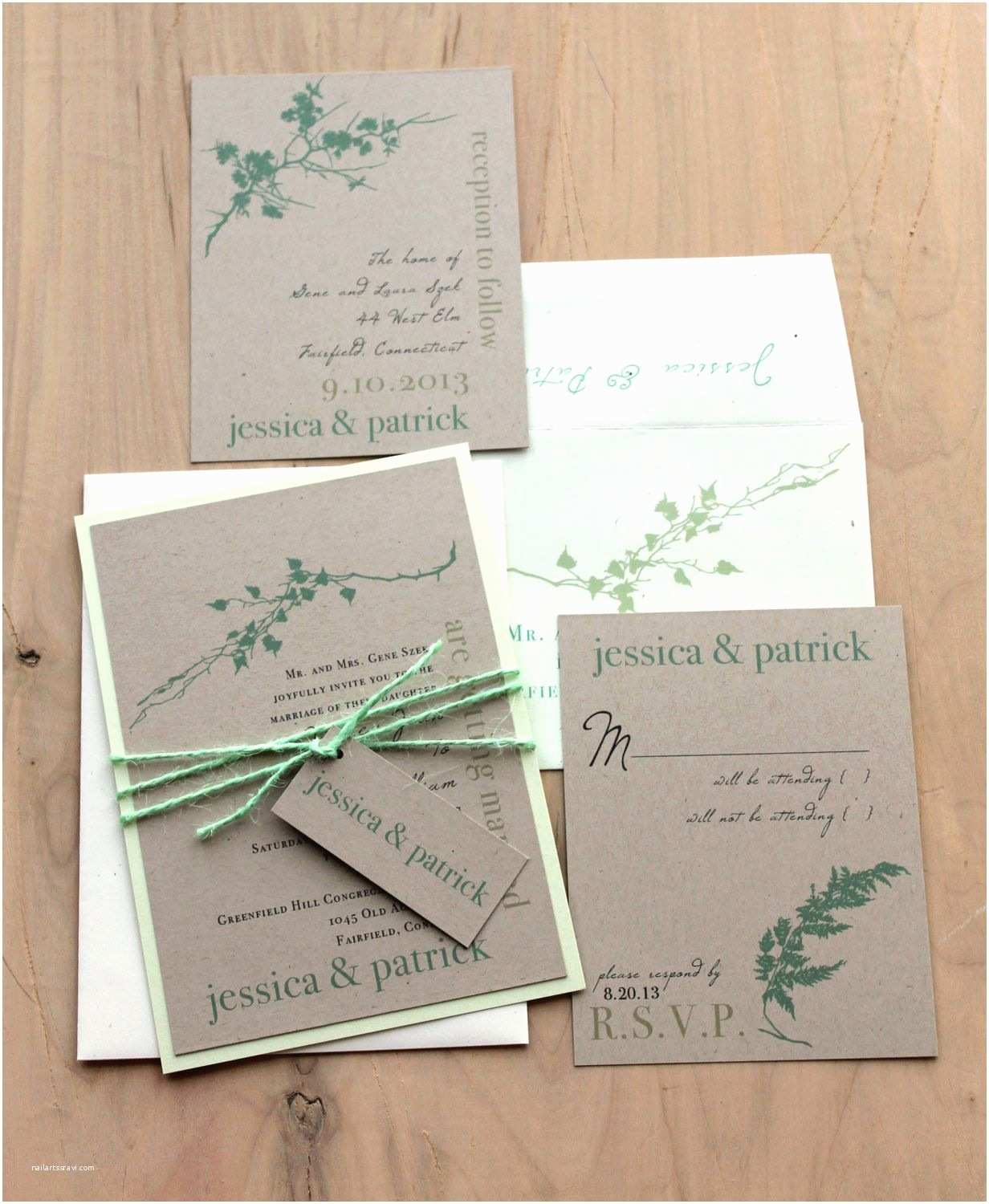 Mint Wedding Invitations Ivory Romance Mint Green Rustic Chic & Elegant Wedding