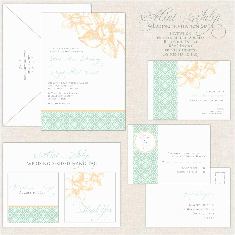 Mint Wedding Invitations Mint Wedding Invitations Peach & Mint Green Wedding Invites