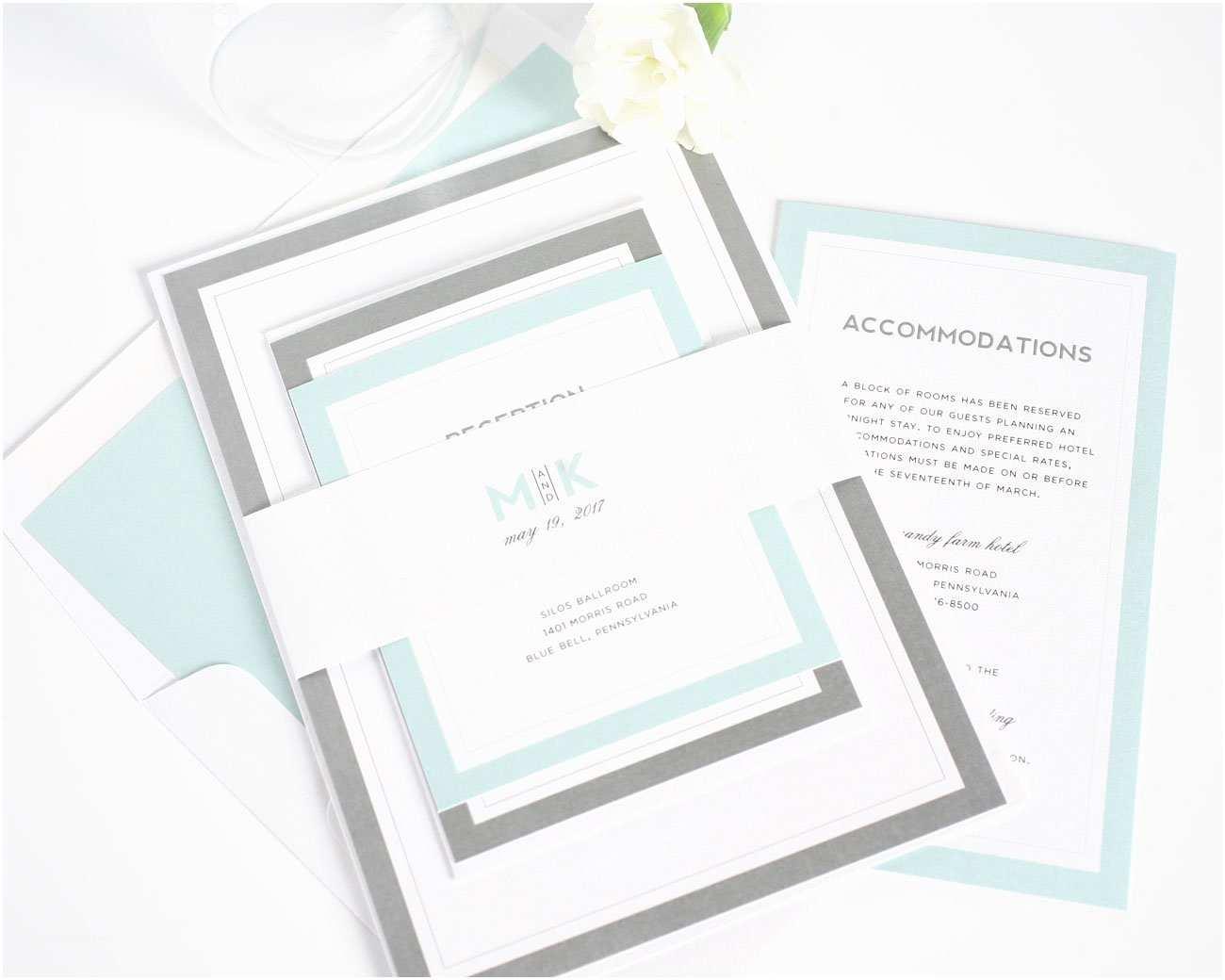 Mint Wedding Invitations Modern Mint Wedding Invitations – Wedding Invitations