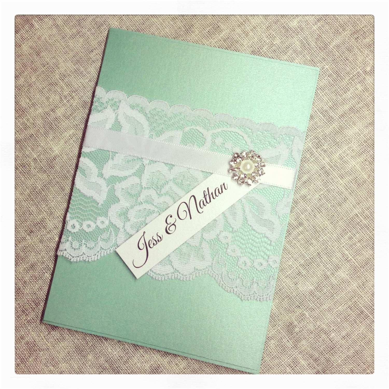 Mint Wedding Invitations Sample Mint Green Vintage Lace Wedding Invitation Sample