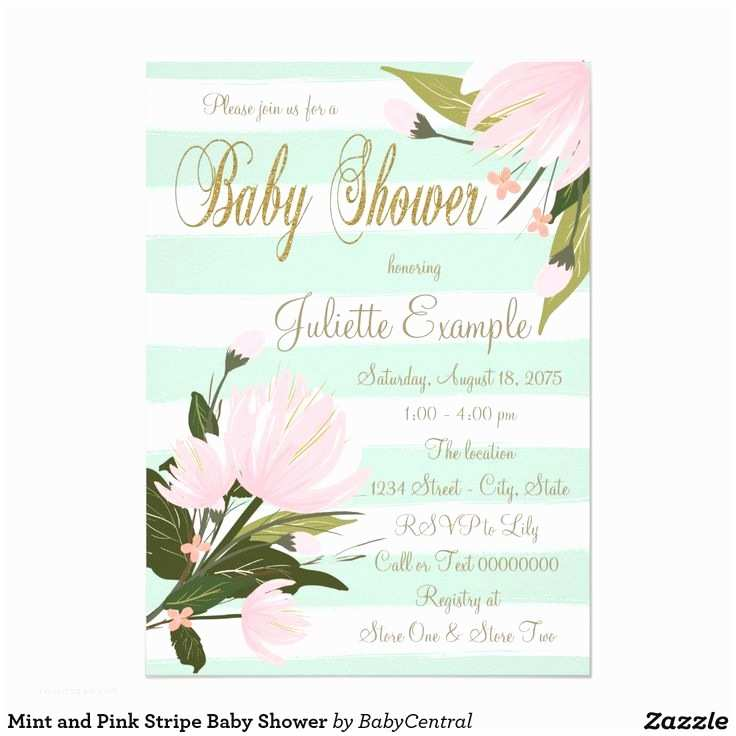 Minted Baby Shower Invitations 9 Best Mint Pink Gold Baby Shower Images On Pinterest