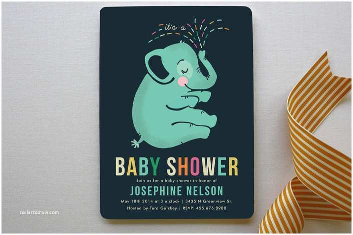 Minted Baby Shower Invitations Baby Elephant Baby Shower Invitations by Pistols