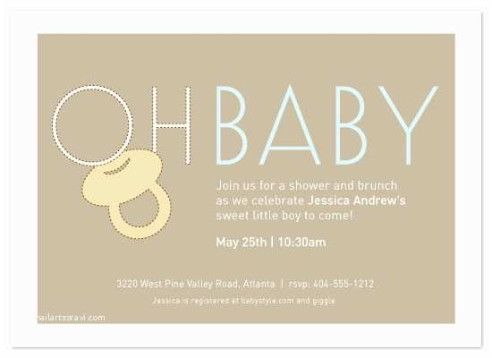 Minted Baby Shower Invitations Baby Shower Invitations Oh Baby at Minted
