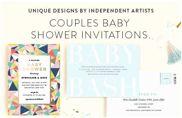 Minted Baby Shower Invitations Couples Baby Shower Invitations