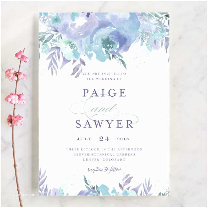 Minted Wedding Invitations Big Blooms Wedding Invitations by Grace Kreinbrink
