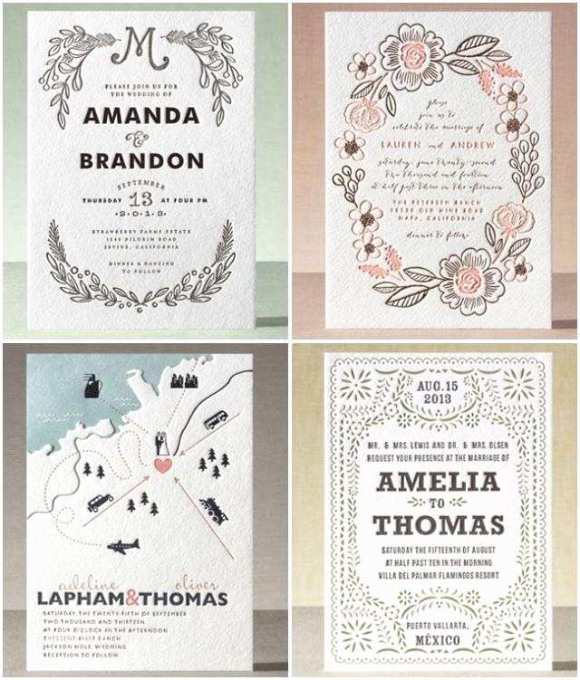 Minted Wedding Invitations Introducing Minted Letterpress A Giveaway