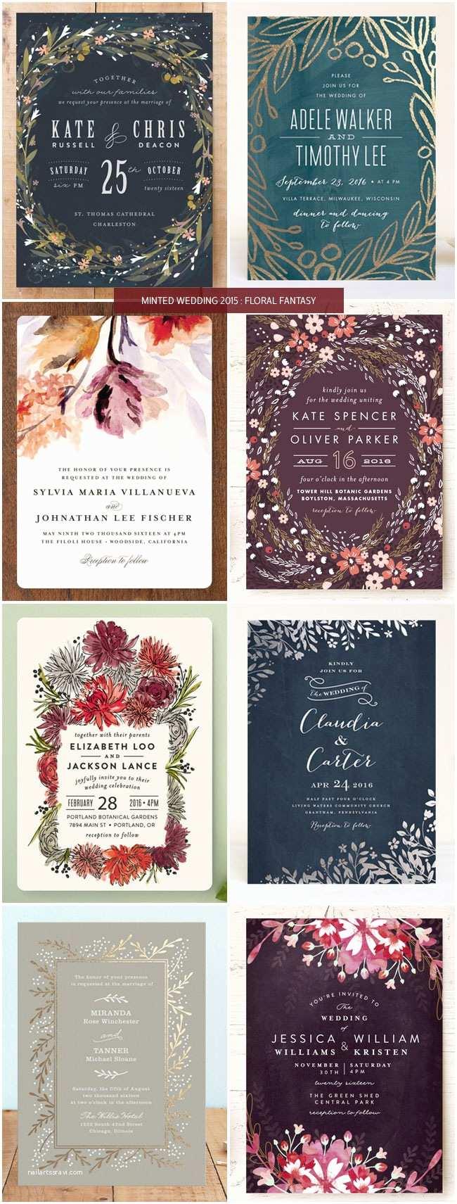 Minted Wedding Invitations Minted Wedding Invitations 2015 Floral Invitation Crush
