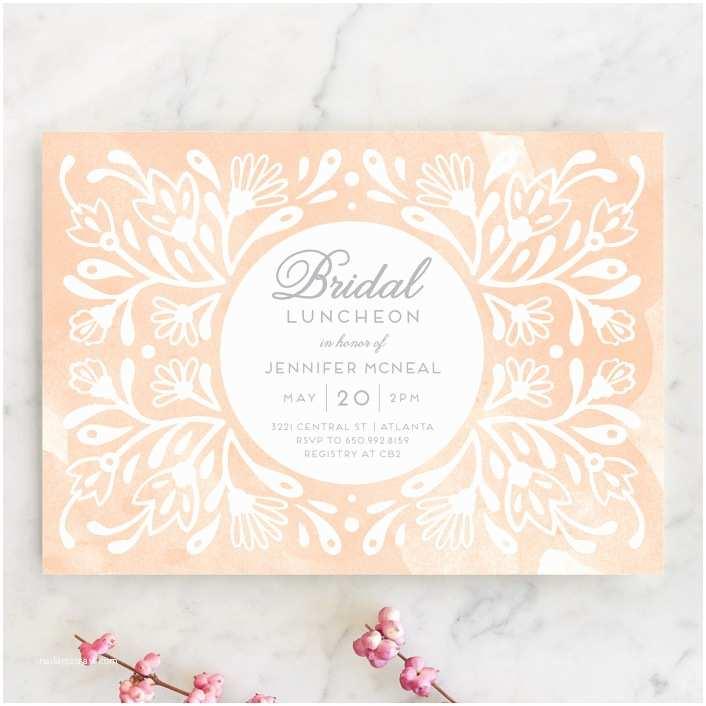 Minted Wedding Shower Invitations Flourishing Blooms Bridal Luncheon Bridal Shower