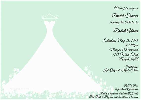 Minted Wedding Shower Invitations Items Similar to Printed Bridal Shower Invitation Mint