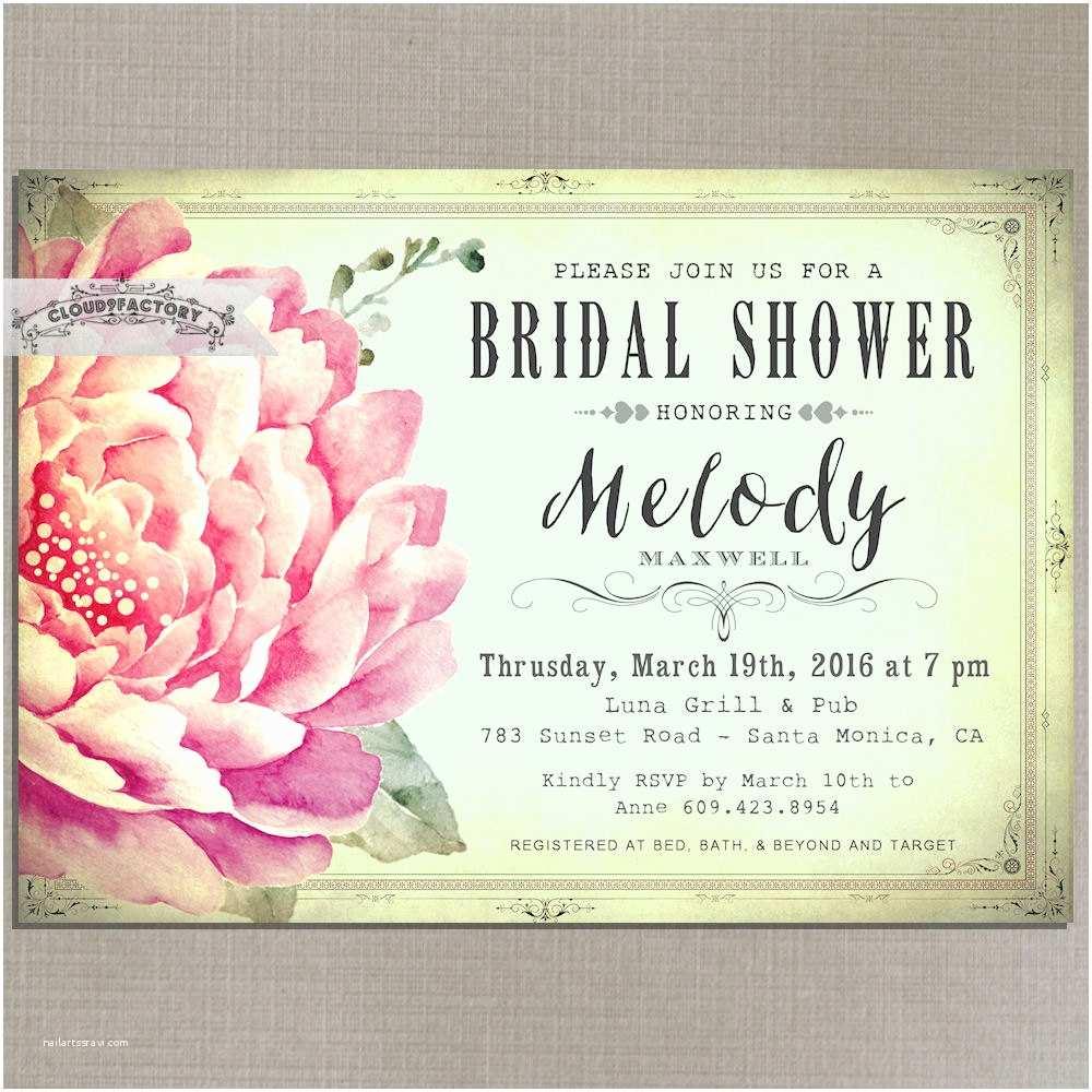Minted Wedding Shower Invitations Mint Bridal Shower Invitation Wedding Garden Party Tea Party