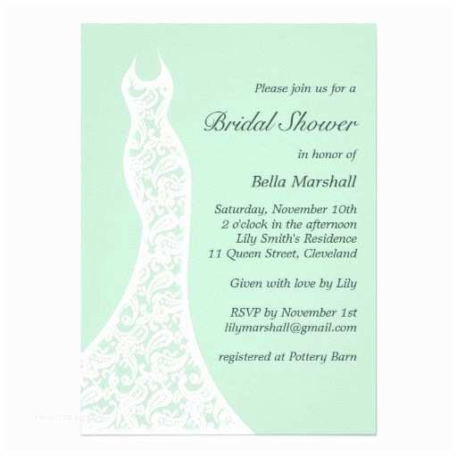 Minted Wedding Shower Invitations Mint Wedding Lacy Mint Bridal Shower Invitation