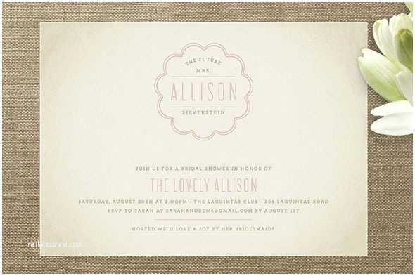 Minted Wedding Shower Invitations Newly Minted Bonne Amie Bridal Shower Invitation