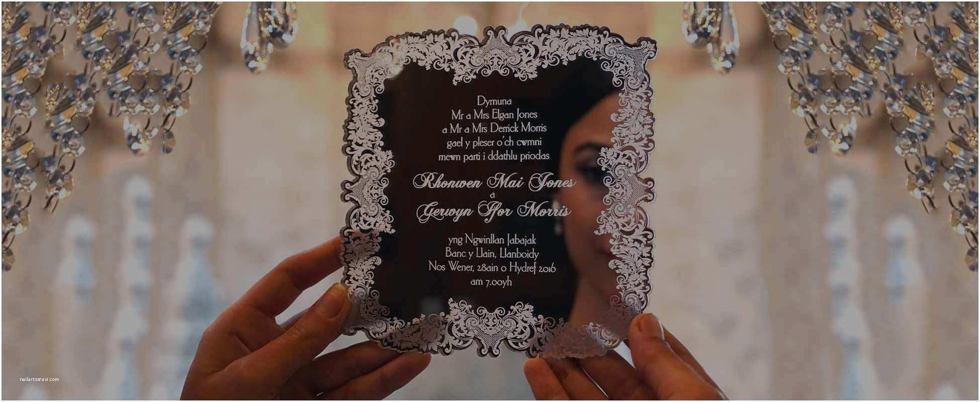 Mirror Wedding Invitations Bespoke Laser Cut Wedding Invitations Uk